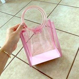 Handbags - Clear pink Jelly Bag bnwot